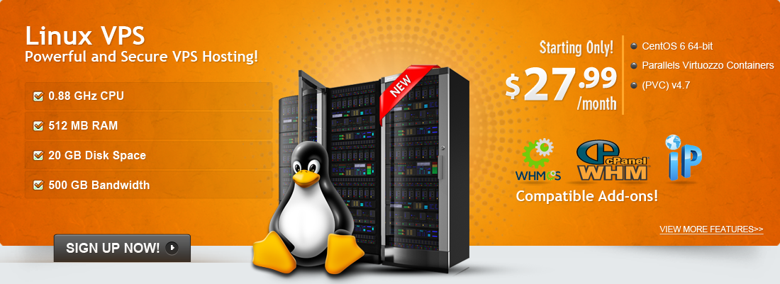 Powerful and Secure VPS lINUX Hosting!